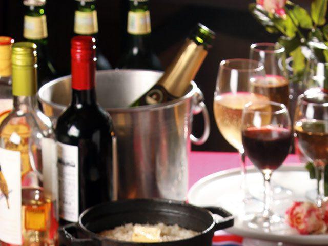 赤・白・スパークリングワイン付オプション