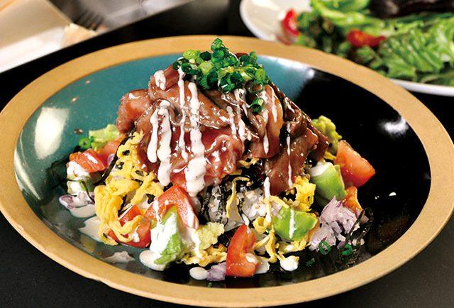 黒毛牛カルビの肉ちらし丼